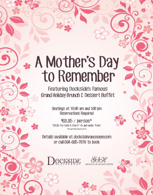Mother's Day Brunch 2015 - Dockside Waterfront Restauraunt