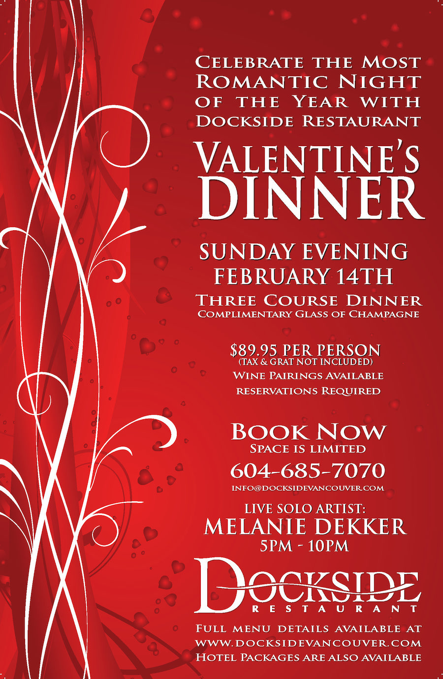 Celebrate Valentine S Day At Dockside Restaurant