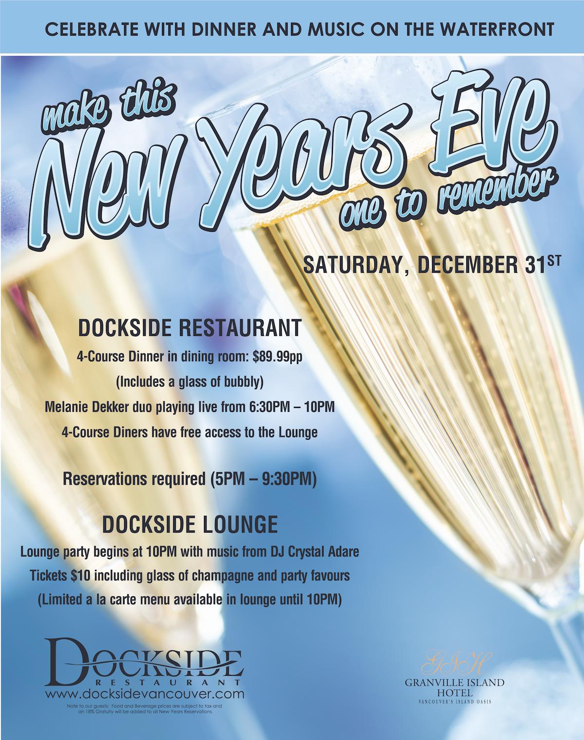 Dockside NYE Poster